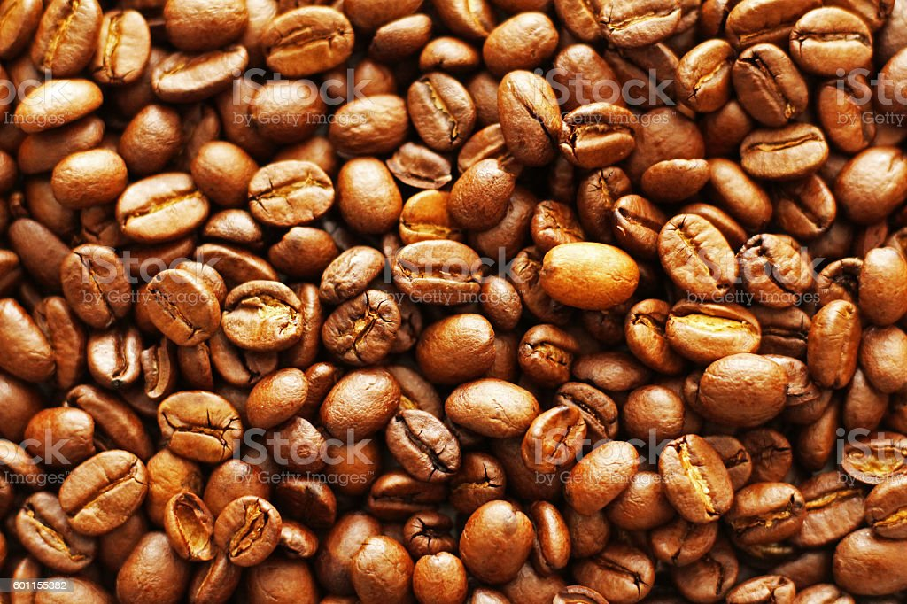Wall of Coffee Beans stock photo
