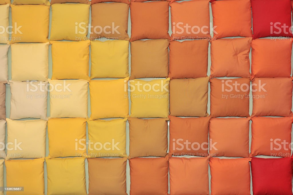 Wall Of Colorful Cushion royalty-free stock photo