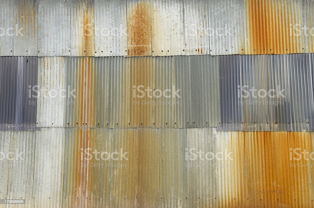 Wall of corrugated sheets royalty-free stock photo