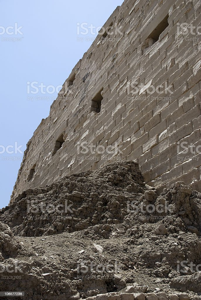 wall of Egyptian temple royalty-free stock photo