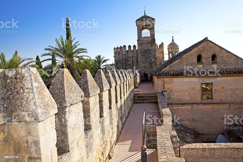 Wall of famous Alcazar in Cordoba,  Andalusia. Spain. royalty-free stock photo