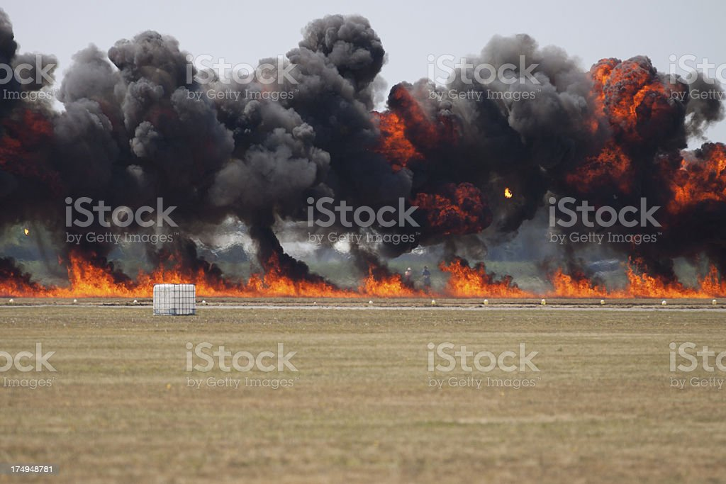 Wall of Fire and Smoke royalty-free stock photo