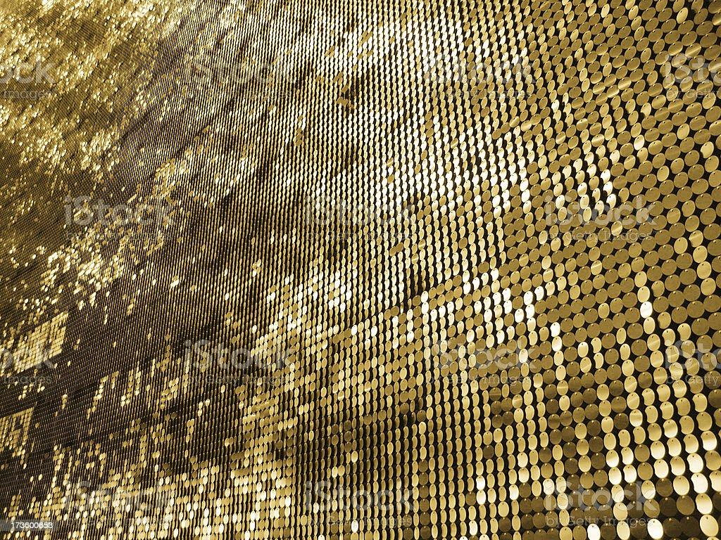 Mur d'or des disques comme Image d'arrière-plan photo libre de droits