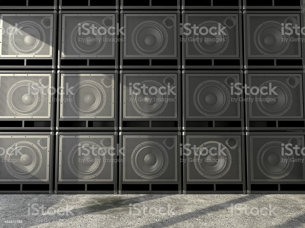 Wall of guitar amps royalty-free stock photo