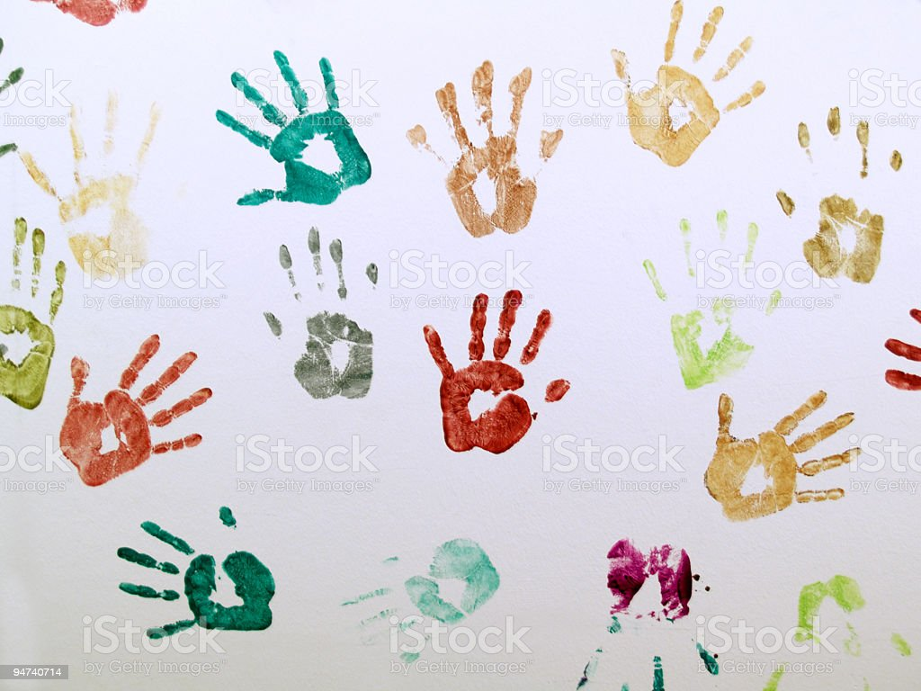 Wall of Hands royalty-free stock photo