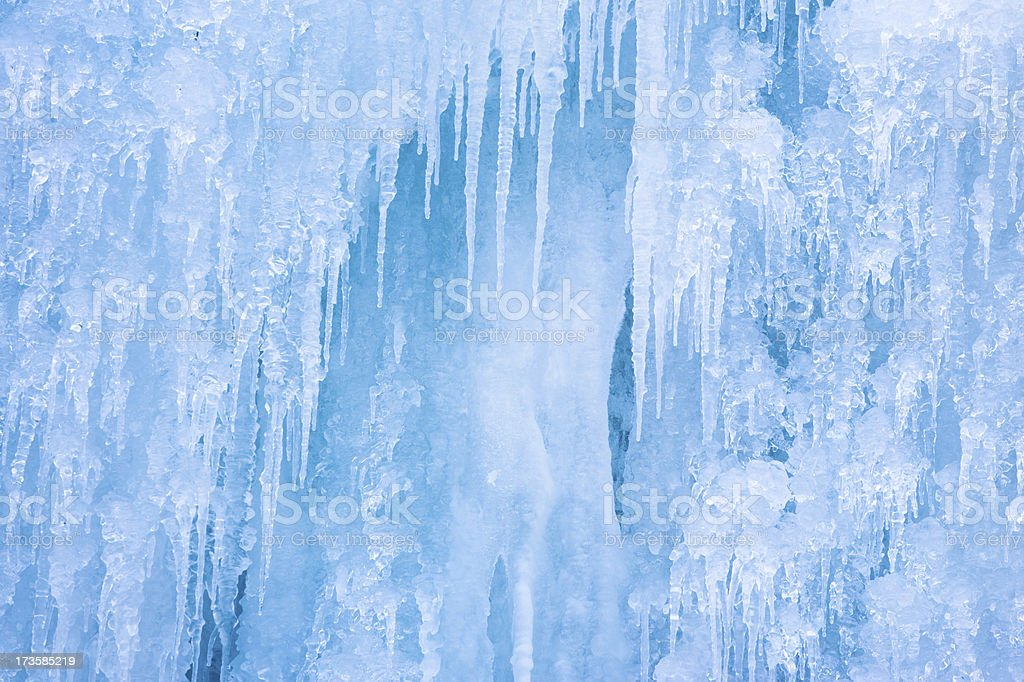 wall of icicle stock photo