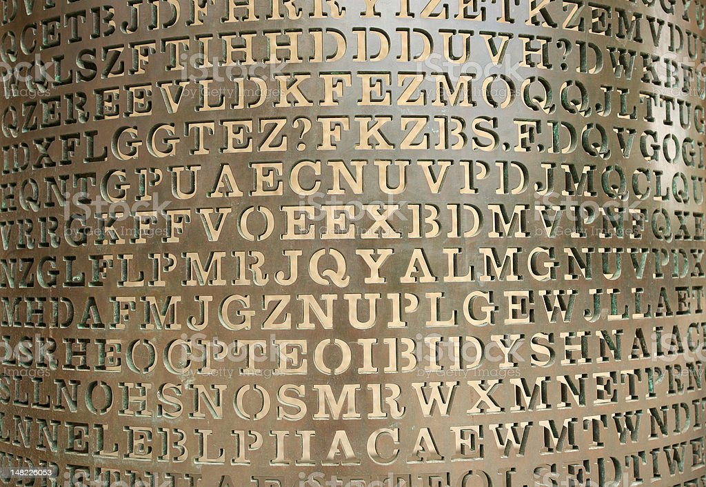 Wall of letters royalty-free stock photo