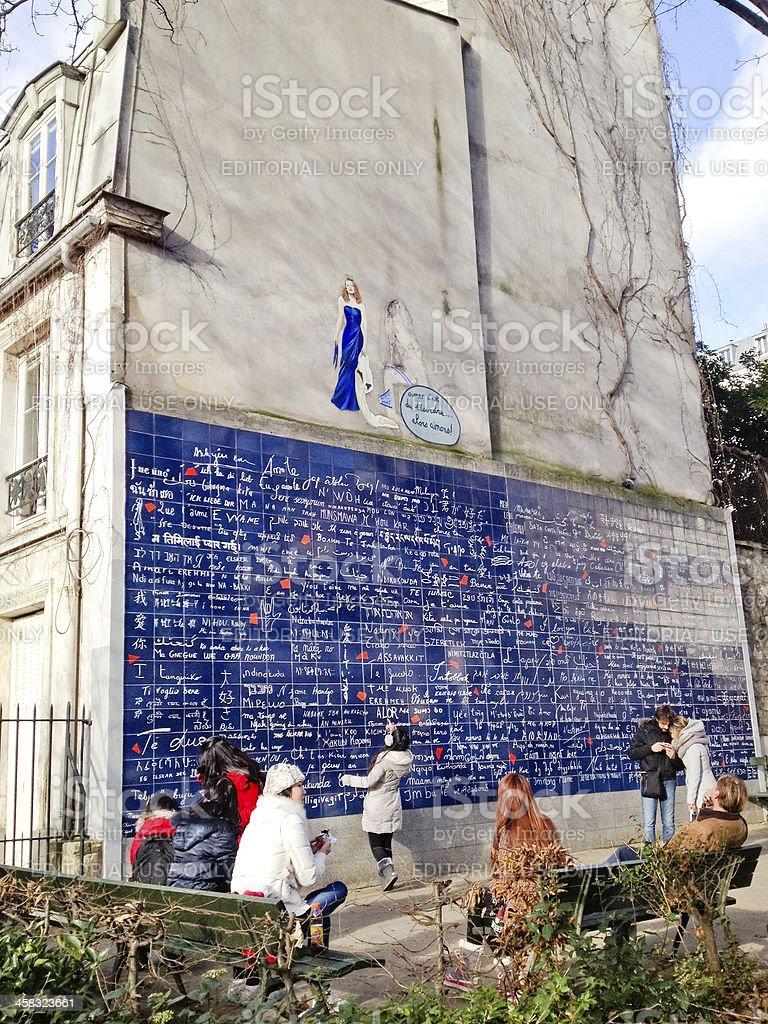 Wall of Love, Montmartre, Paris stock photo