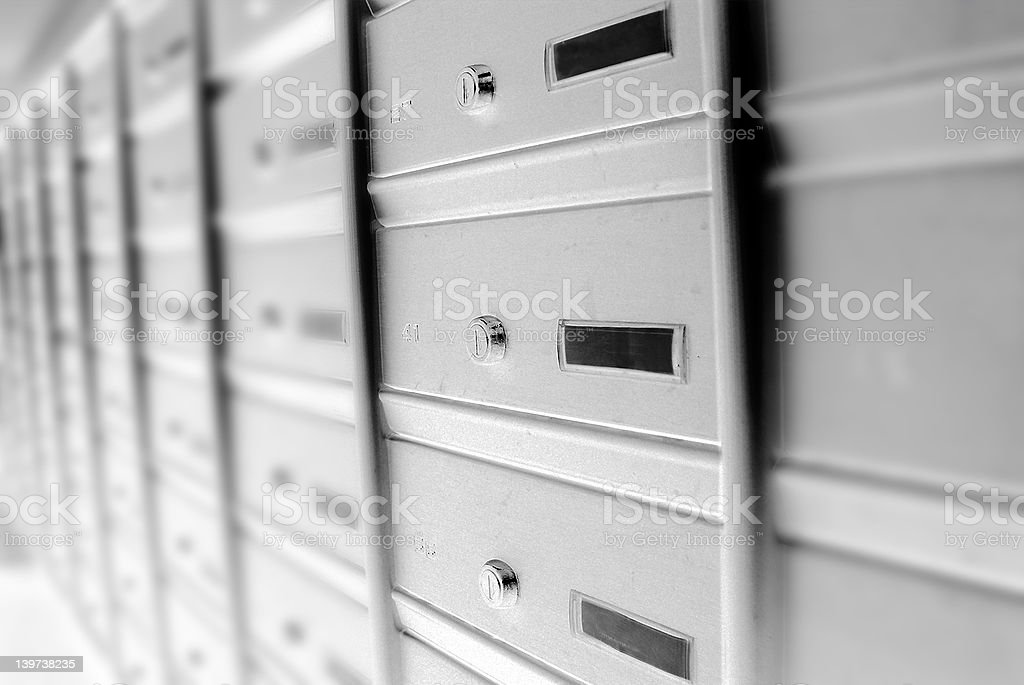 wall of mail boxes royalty-free stock photo