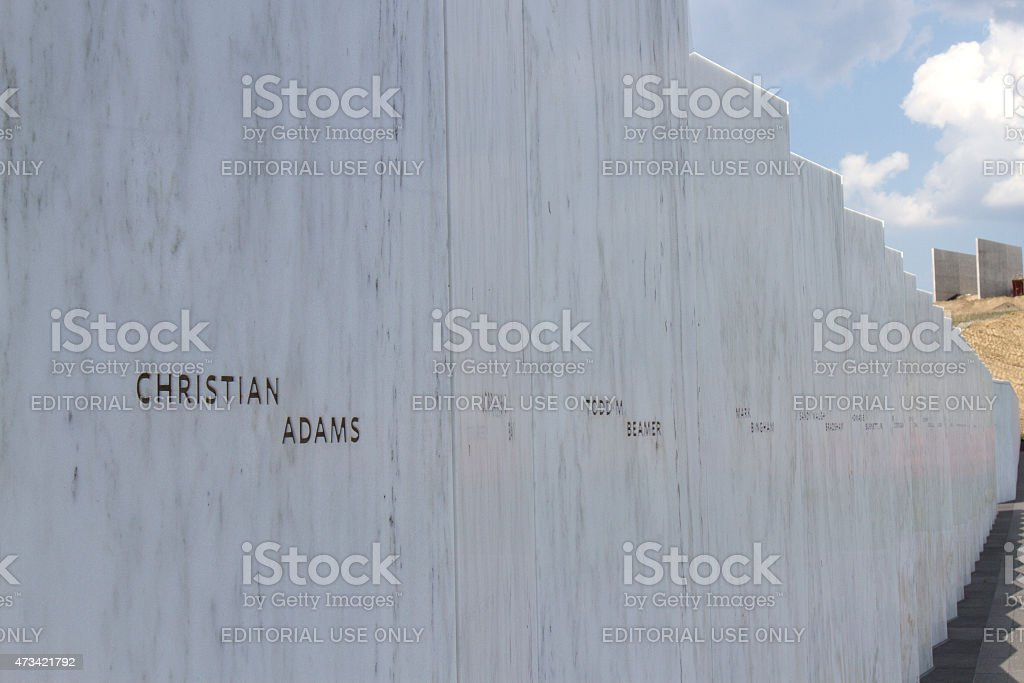 Wall of Names, Flight 93 Memorial stock photo