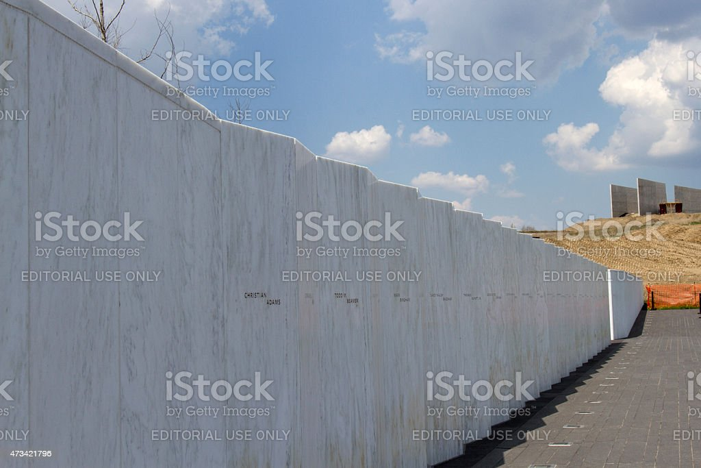 Wall of Names, Flight 93 stock photo