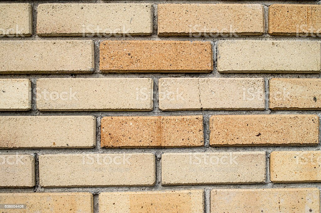 Wall of new refractory bricks closeup stock photo