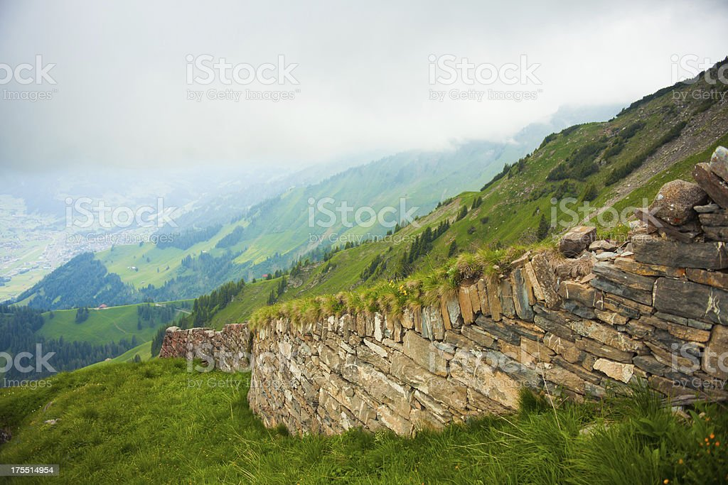 Wall of Niesen mountain,Switzerland royalty-free stock photo