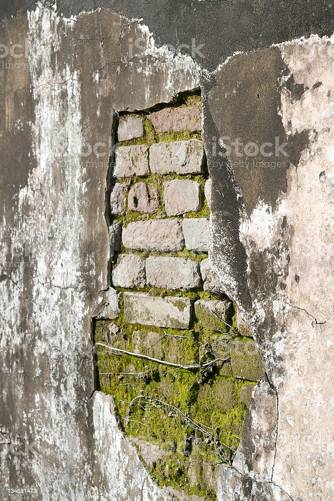 Wall of Old Tomb royalty-free stock photo