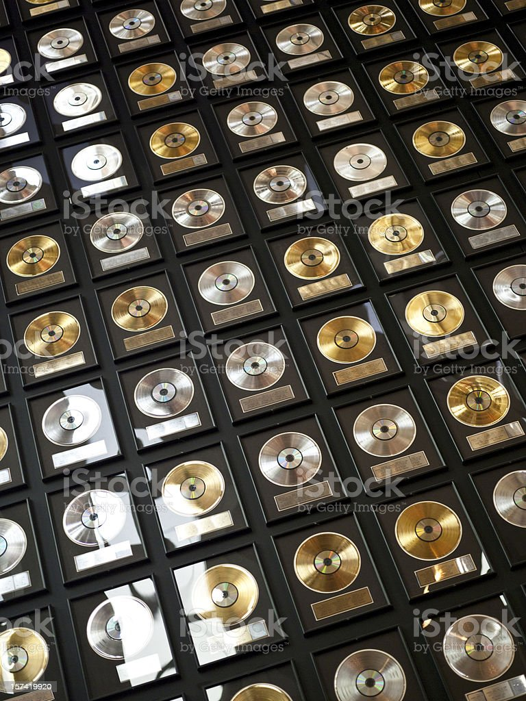 Wall of records royalty-free stock photo