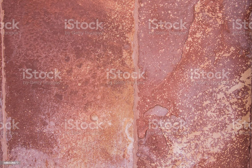 Wall of red flagstone royalty-free stock photo