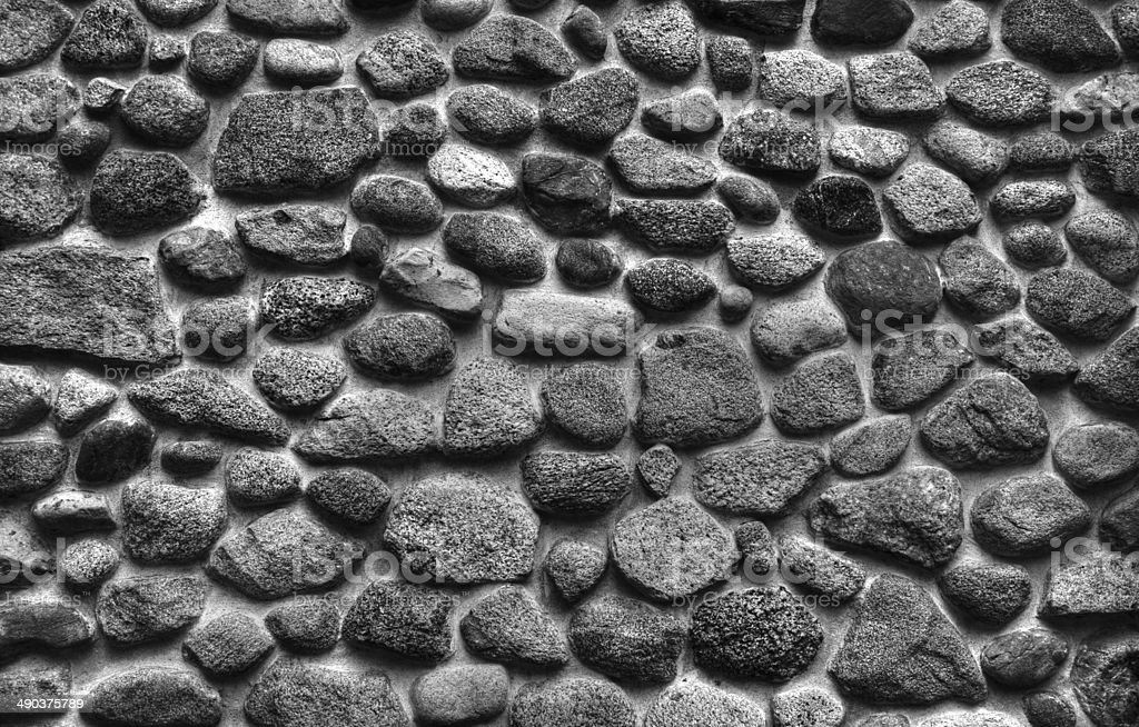 Wall Of River Rocks stock photo