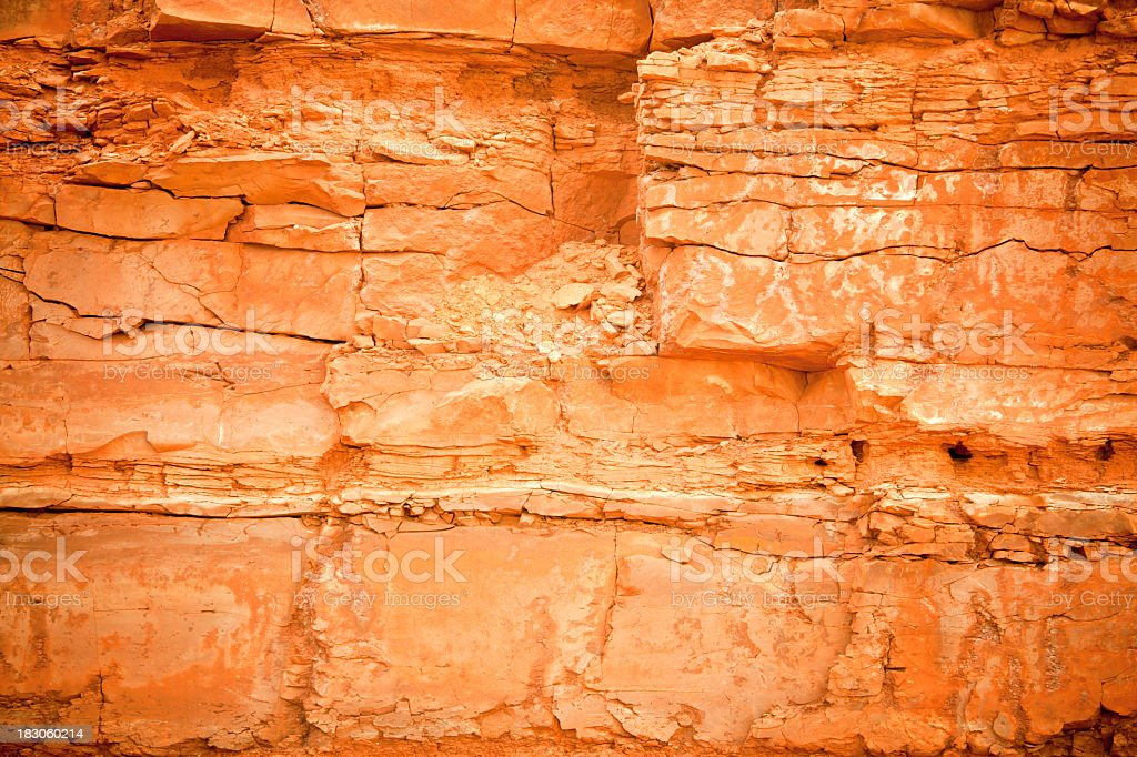 Wall of Rock royalty-free stock photo