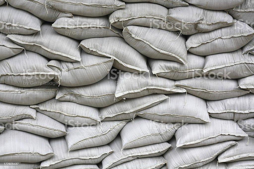Wall of Sandbags stock photo