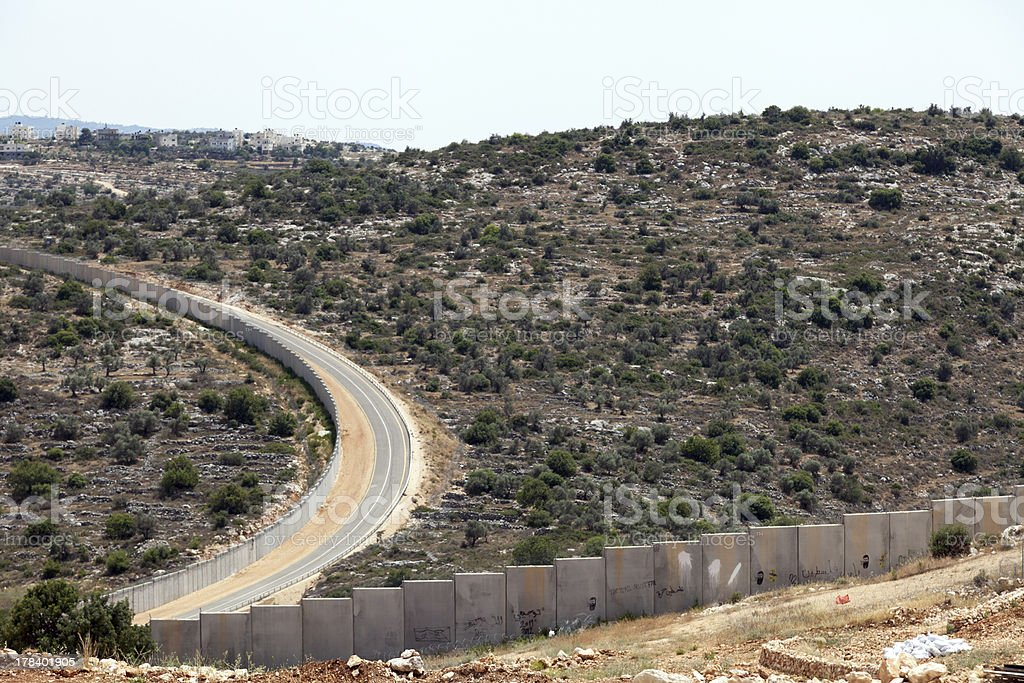 Wall of Separation Palestine Israel Apartheid royalty-free stock photo