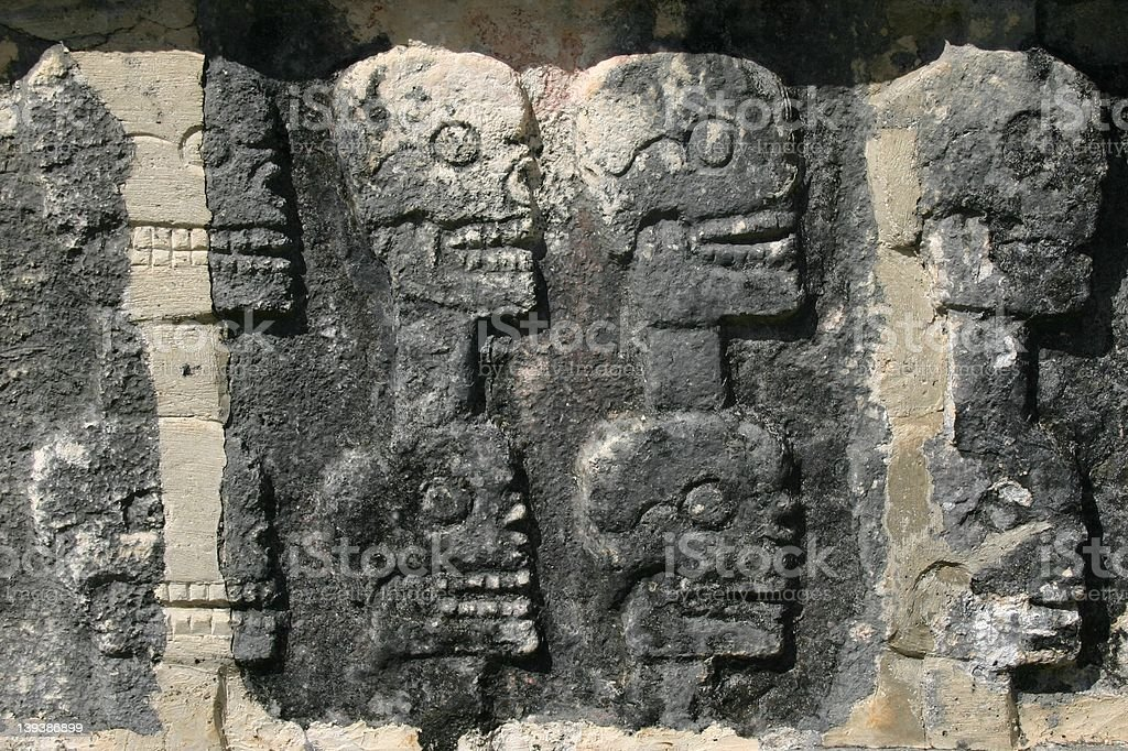 Wall Of Skulls stock photo