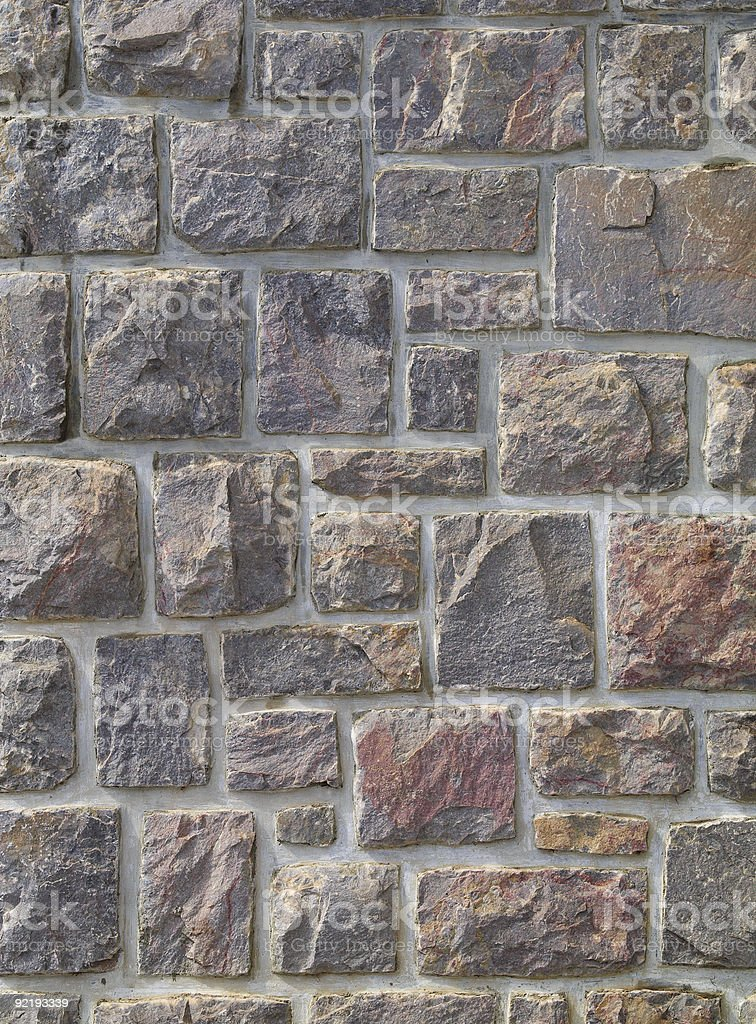 Typical wall of stones of a Canfranc Spain house.