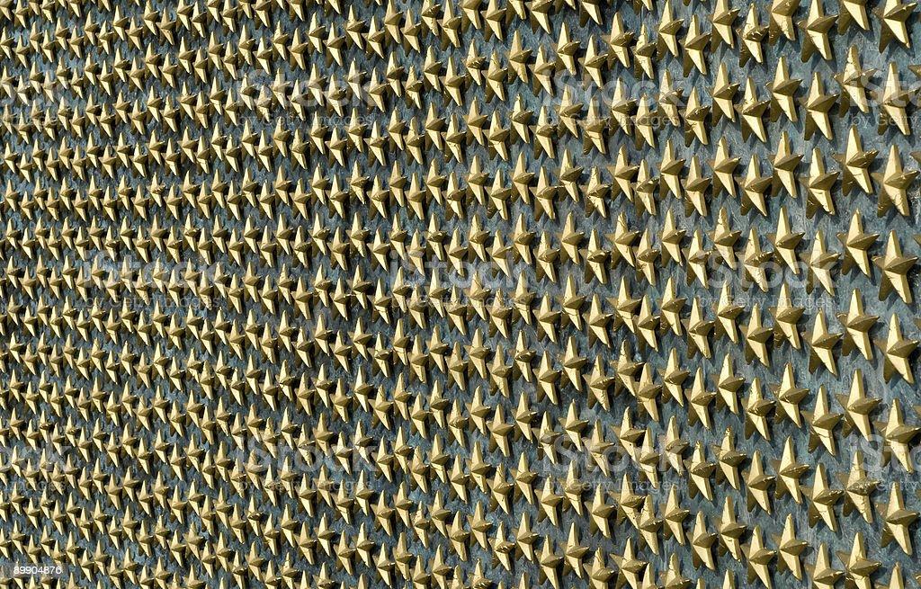 Wall of stars royalty-free stock photo