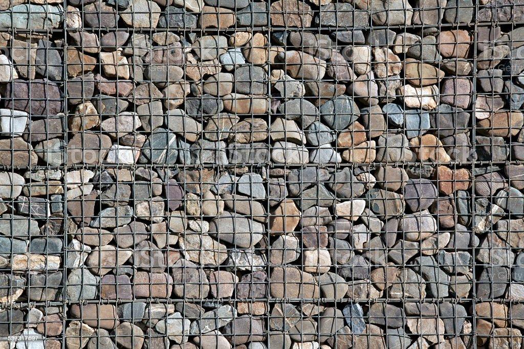 Wall of stone stock photo