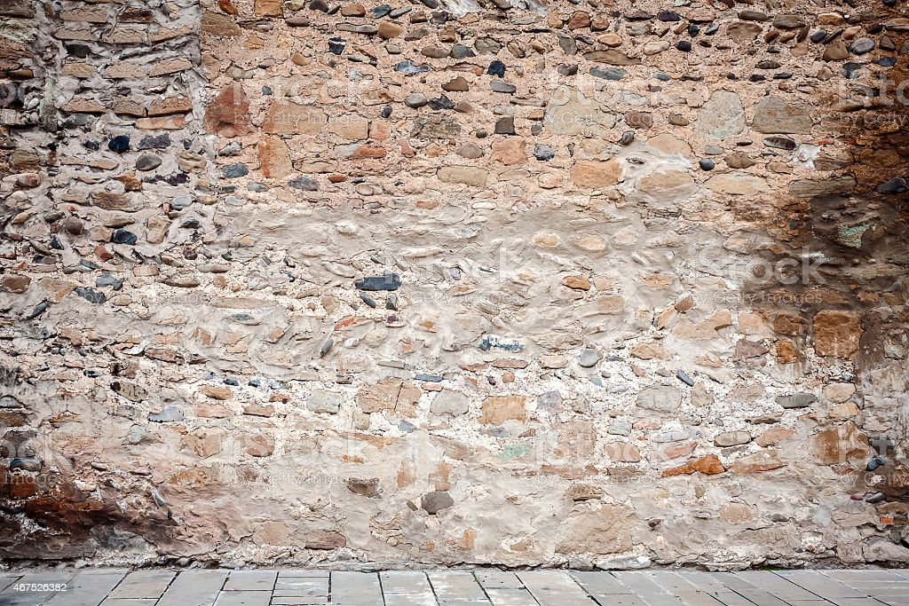 Wall of stones stock photo