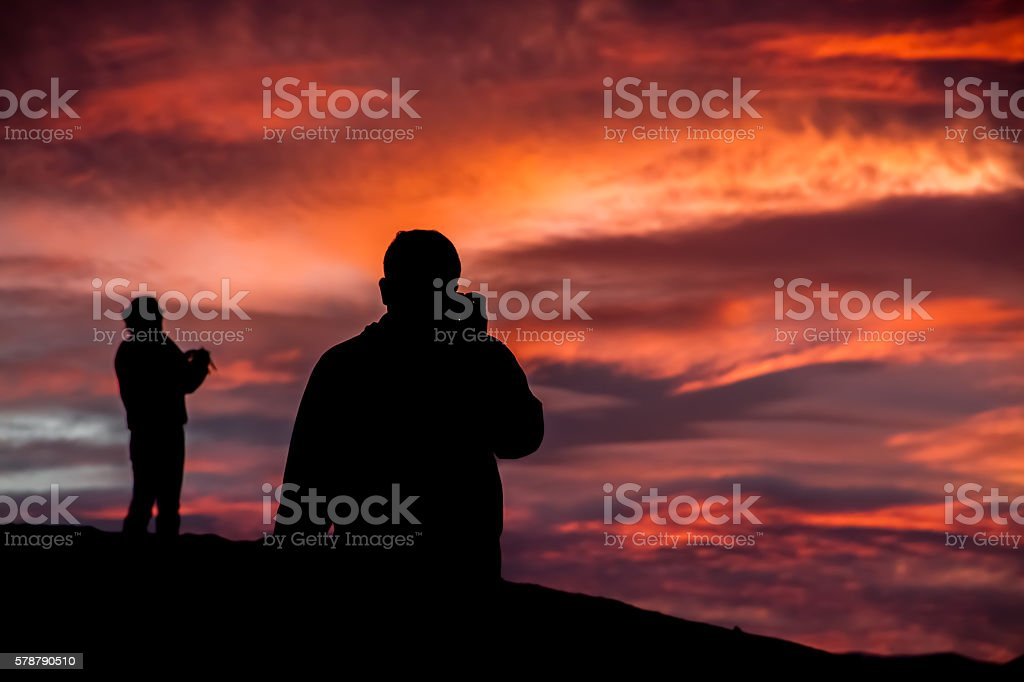 Wall of Sunset stock photo