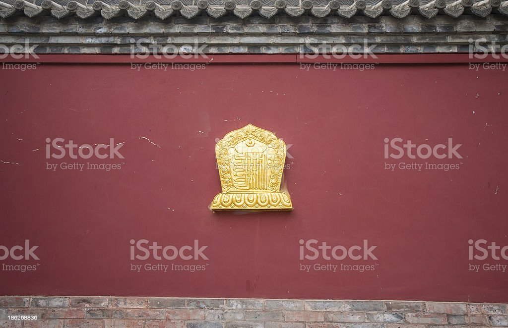 wall of temple royalty-free stock photo