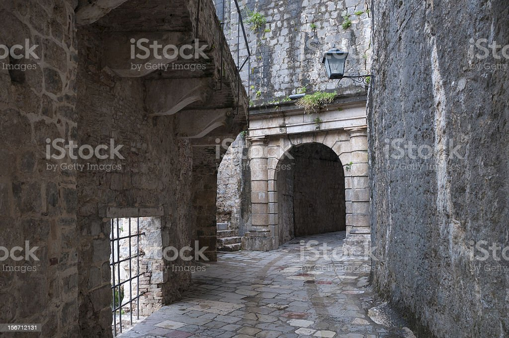 wall of the ancient fortress royalty-free stock photo