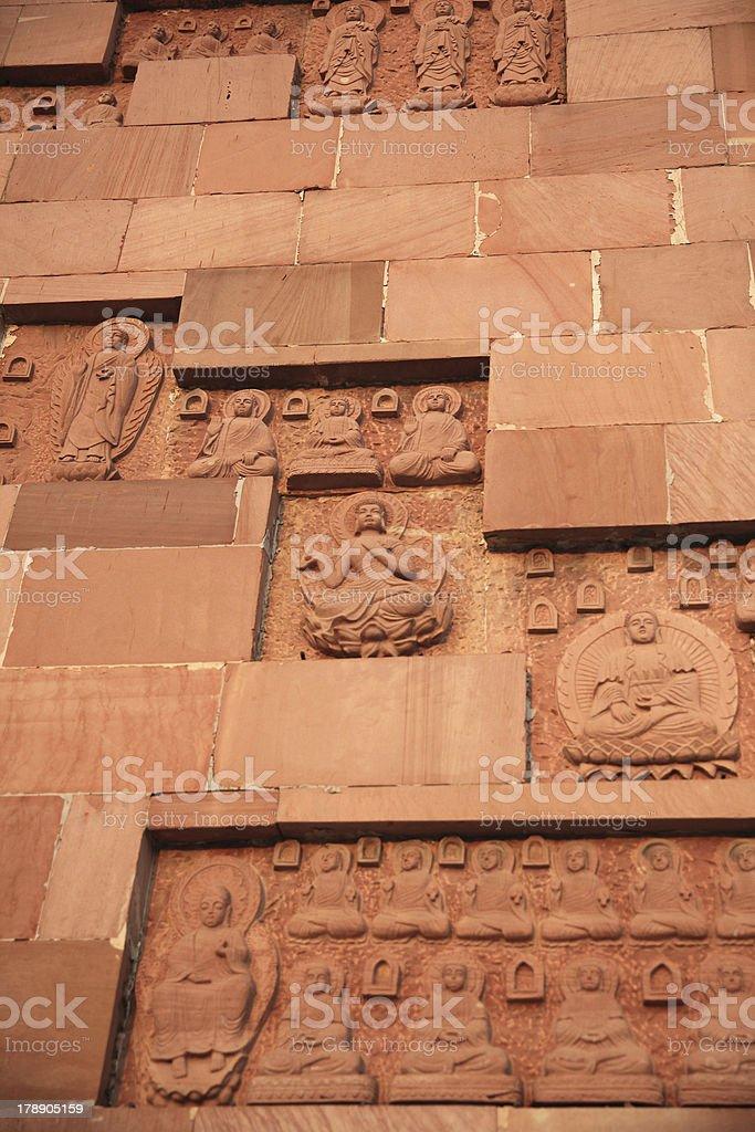 wall of the Buddha royalty-free stock photo