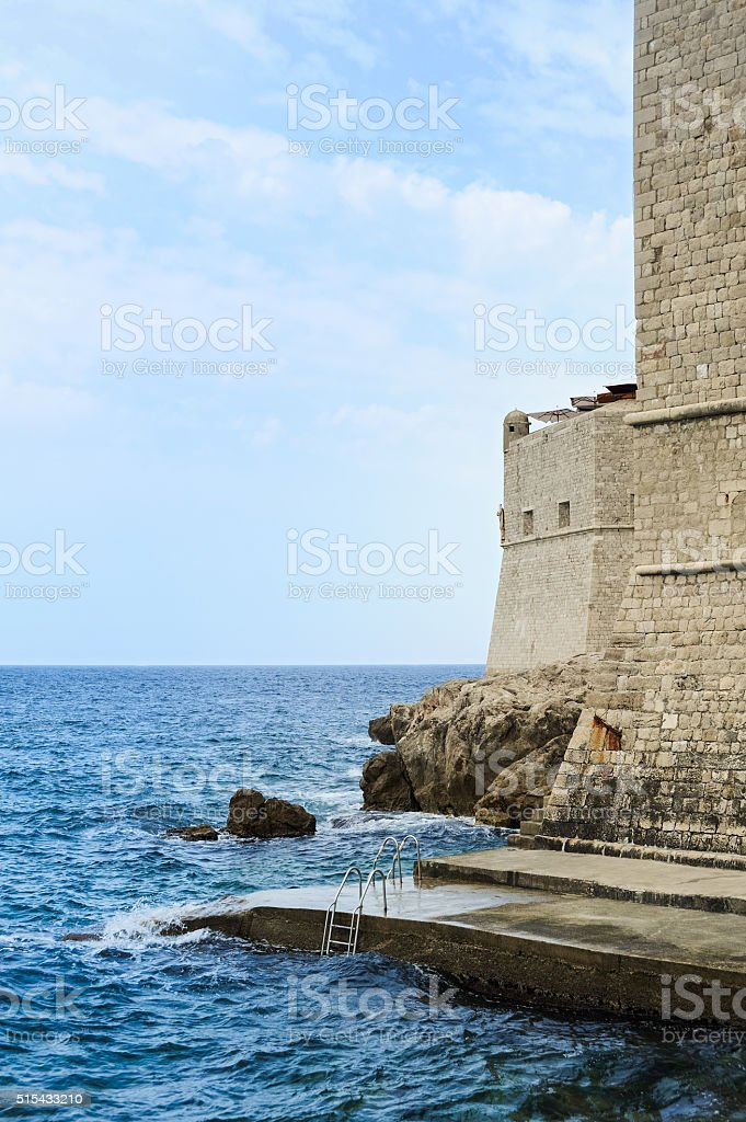 Wall of the City of Dubrovnik stock photo