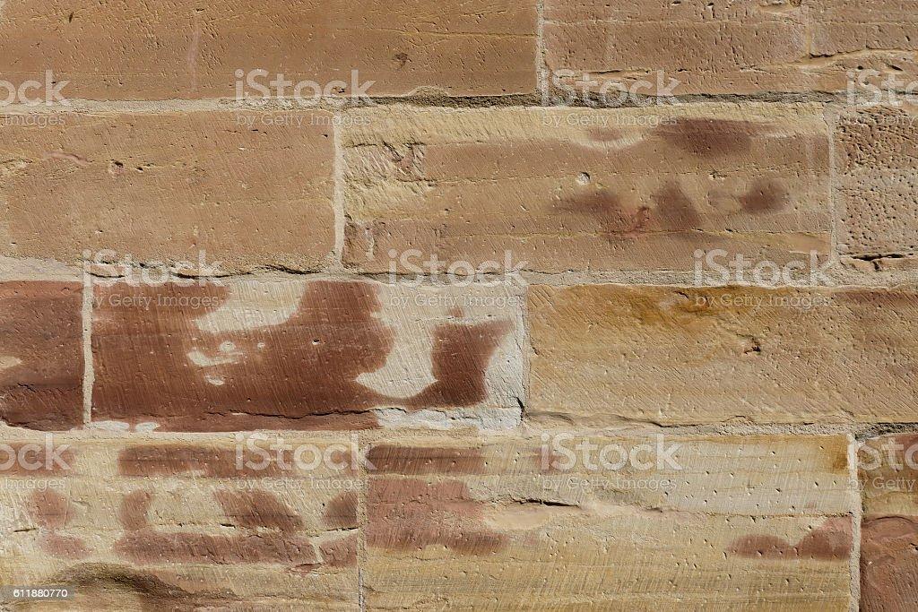 Wall of the Liebfrauenkirche church. stock photo