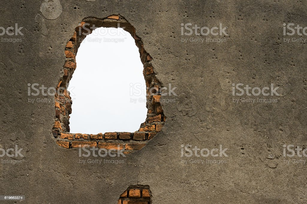 Wall of the old church through a broader channel light royalty-free stock photo