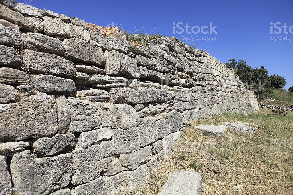 Wall Of Troy stock photo