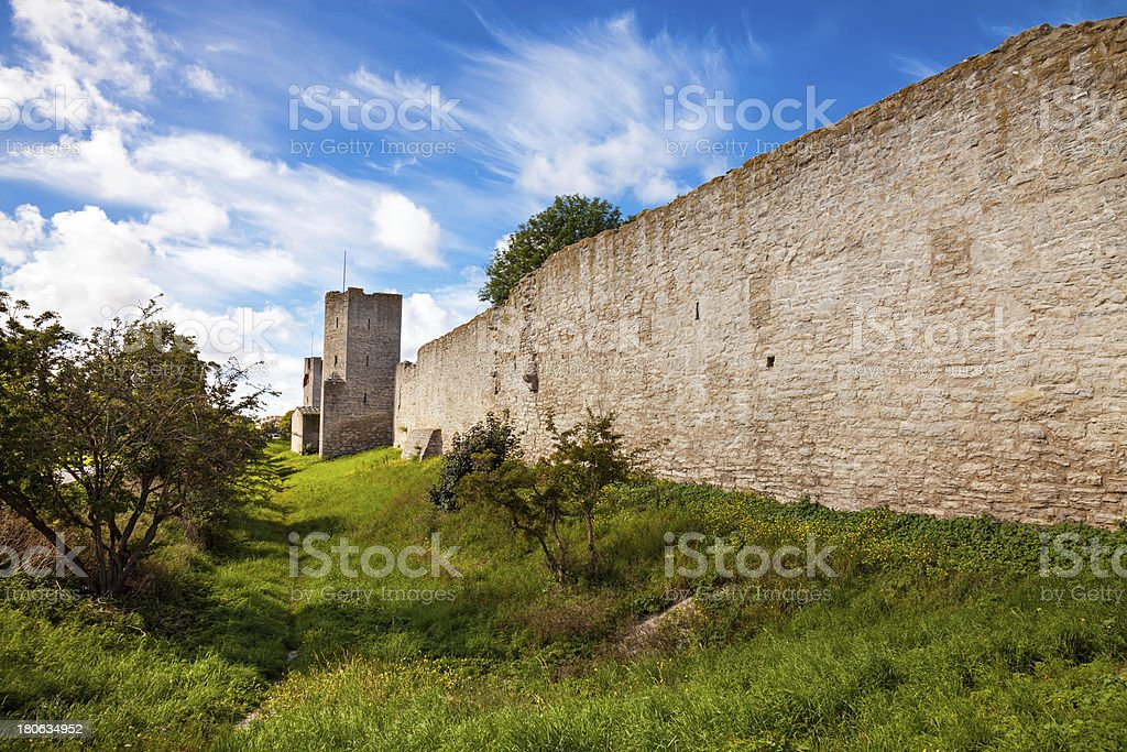 Wall of Visby royalty-free stock photo
