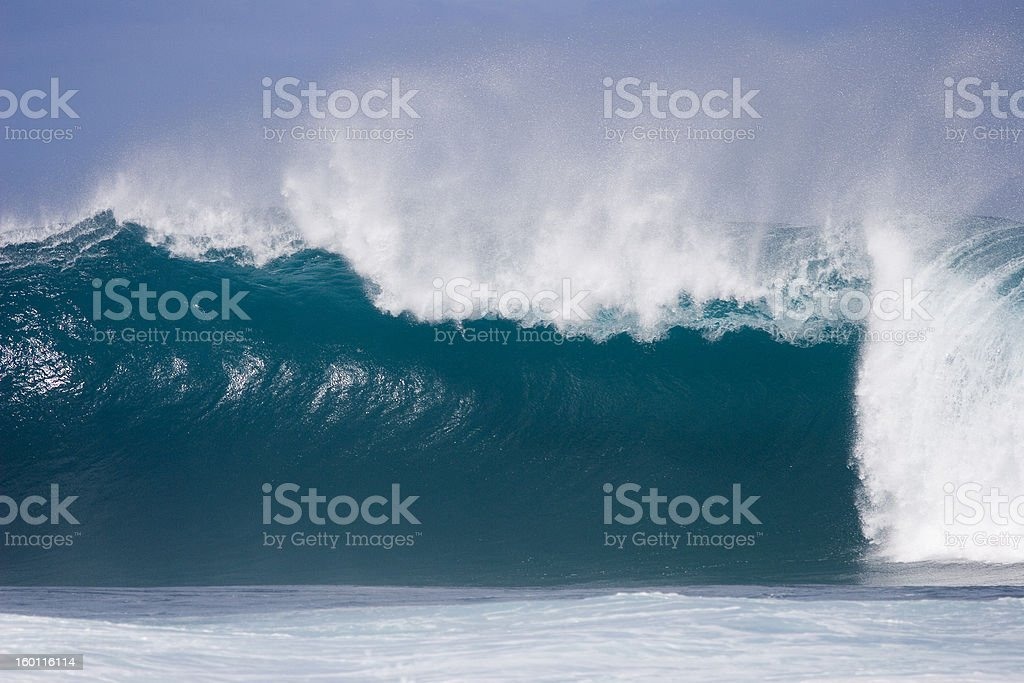 Wall of water  Sunset BEach royalty-free stock photo