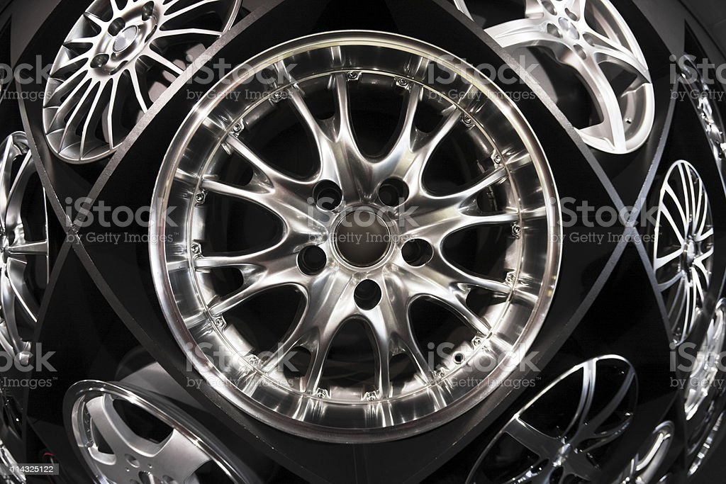 Wall of wheels royalty-free stock photo