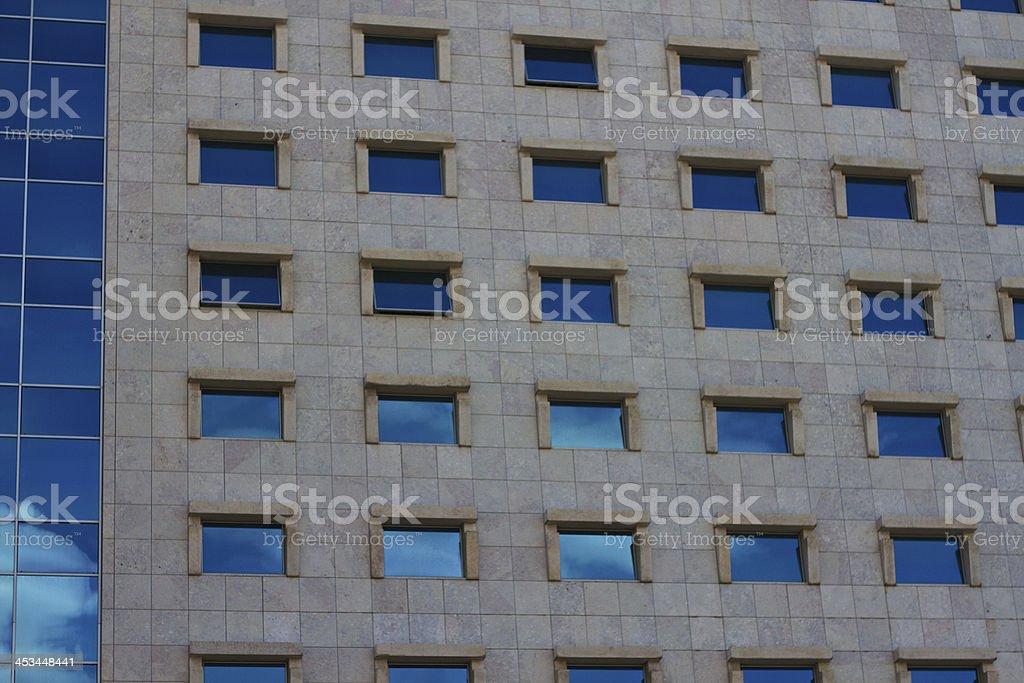 Wall of windows royalty-free stock photo