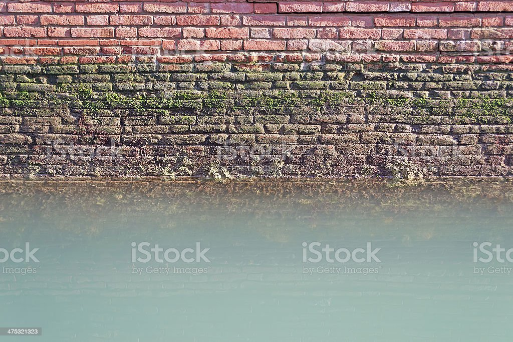 wall on the water royalty-free stock photo