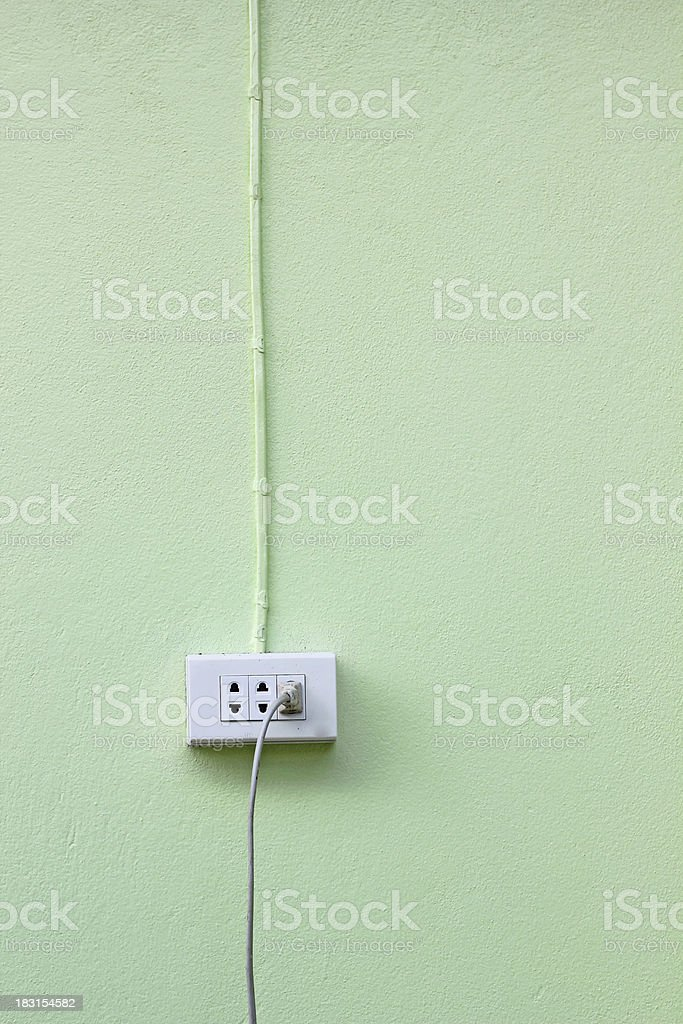 Wall outlets royalty-free stock photo