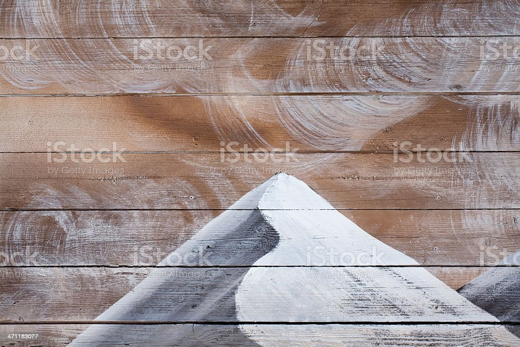 Wall painted wood stock photo