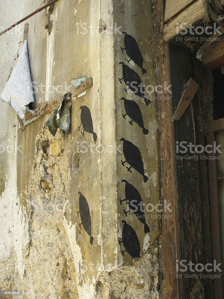 Wall Painting, cave paint in new Era royalty-free stock photo