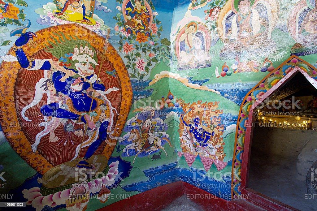 Wall Painting in Dira-Puk stock photo