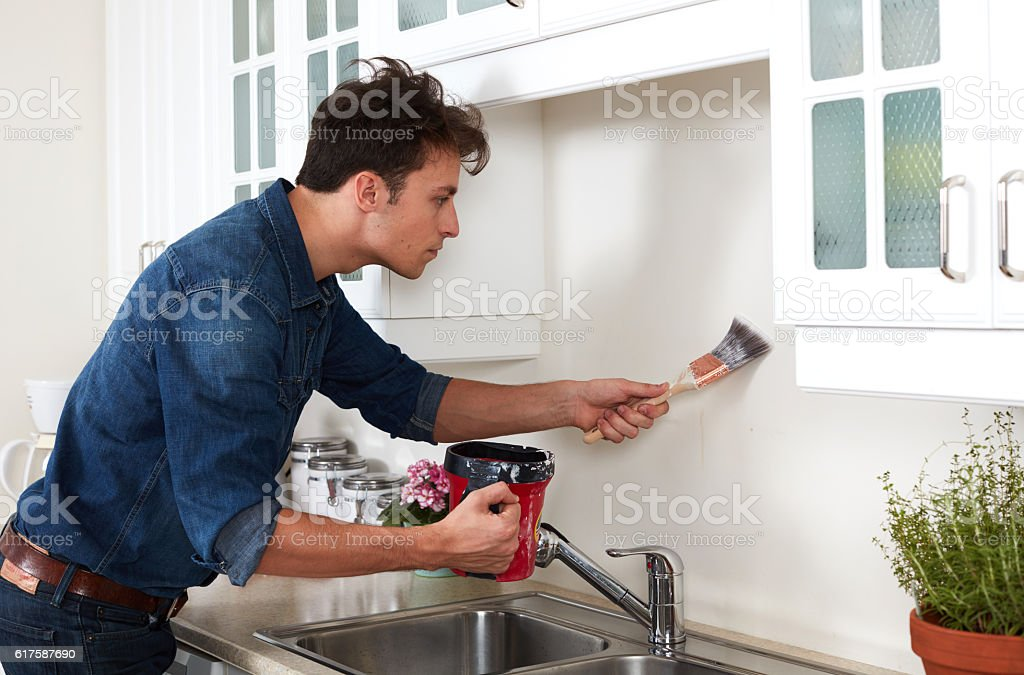 Wall painting. stock photo