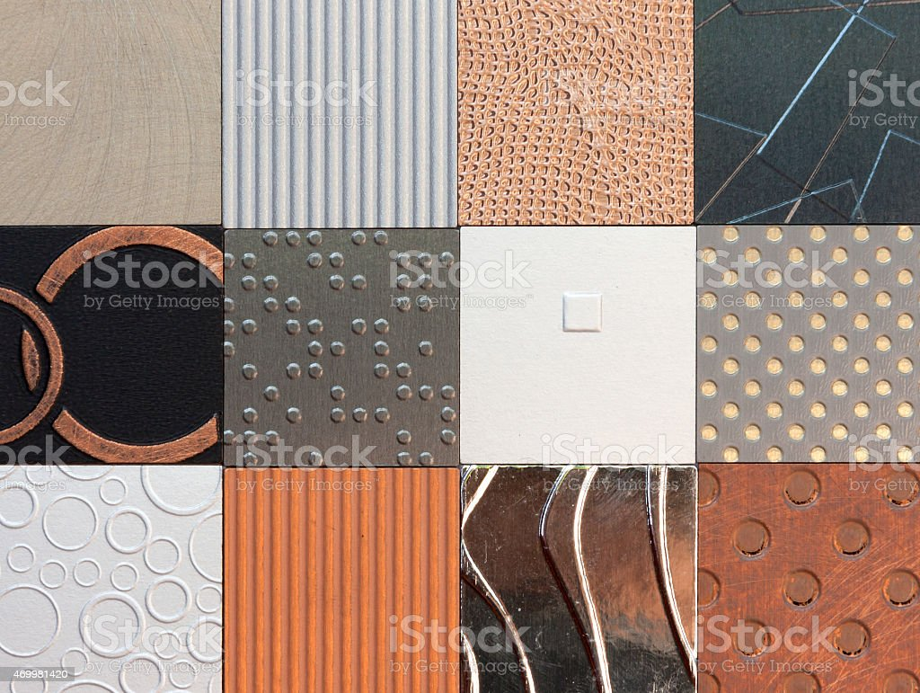 Wall pattern collection royalty-free stock photo
