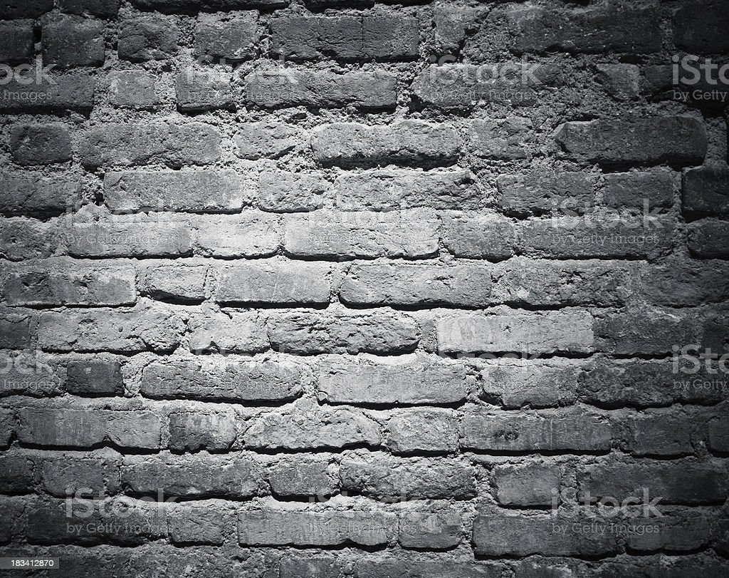 wall pattern in background, monochrome brick royalty-free stock photo