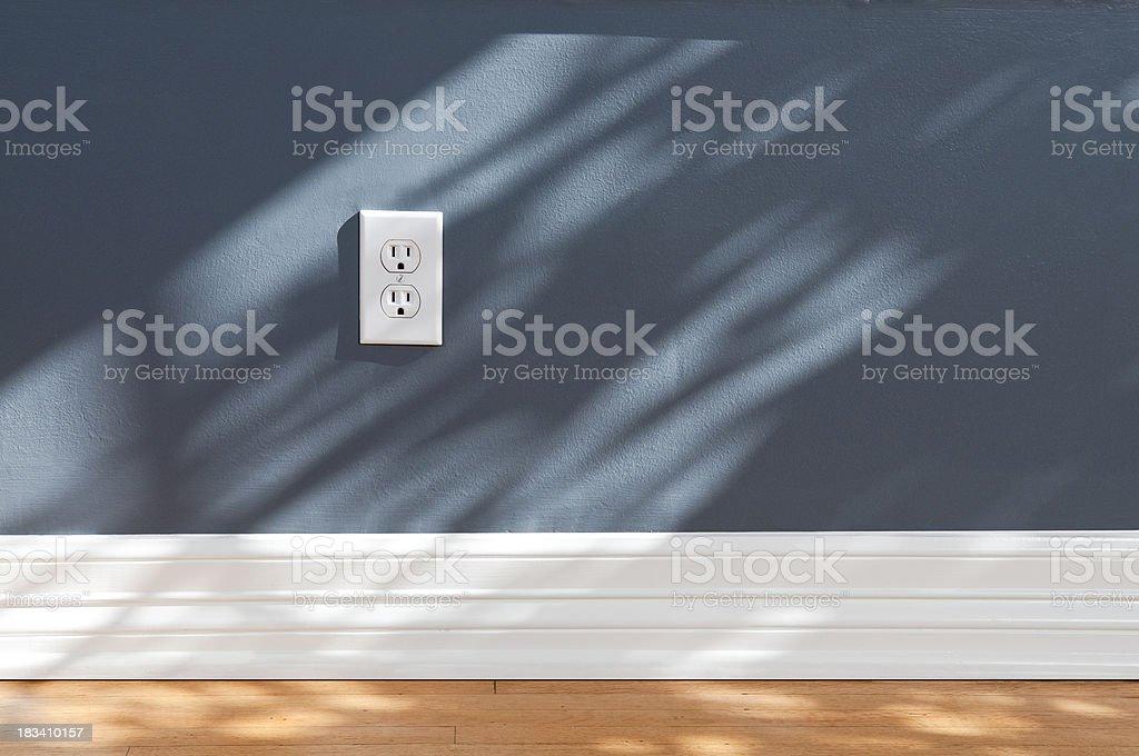 Wall Plug In Empty Room stock photo